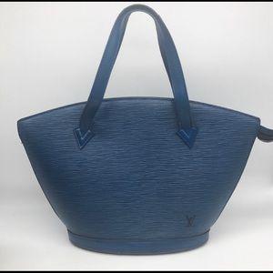Louis Vuitton blue epi leather saint jacques Tote